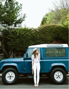 Love everything about this photo the car the style, the outfit, and the layout of the photo.
