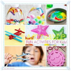 Fun Activities and Crafts for Kids... perfect for Spring break!