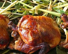 Traditional way of cooking Roasted Chicken in Philippines, nilitson manok sa nagbabagang uling for about hours. Japanese Street Food, Thai Street Food, Filipino Recipes, Asian Recipes, Filipino Food, Filipino Dishes, Grilled Chicken Recipes, Roasted Chicken, Chicken Soup