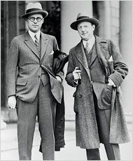 Joseph P. Kennedy with Jesse Lasky, another Hollywood magnate,