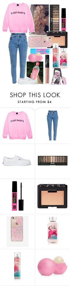 """""""Close"""" by hgrace1003 ❤ liked on Polyvore featuring Vetements, Vans, Maybelline, NARS Cosmetics, Skinnydip and Eos"""