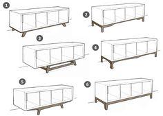 So wird dein Ikea Kallax Regal zum angesagten Midcentury Lowboard! Welches Design ist dein Favorit? Bitte schreib uns einen Kommentar! / Turn your Ikea Kallax shelf to a cool midcentury lowboard! What's your favorite? Please vote!
