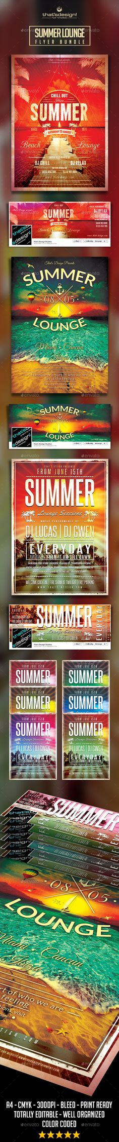 Summer Lounge Flyer Bundle ...  beach, beach flyer, beach party, beach psd, bundle, caribbean, chill out, cocktail, dj, dubstep, electro, festival, flyer, holiday, indie, latin, lou606, lounge, music, palms, party, poster, seaside, summer, summer PSD, sum