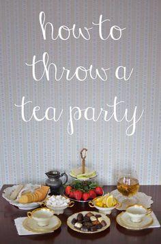 Throwing a Tea Party