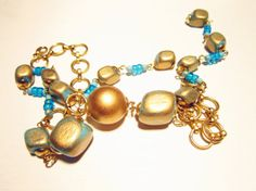 Set in turquoise of Necklace Bracelet and by JewelryNeshElly, $27.00