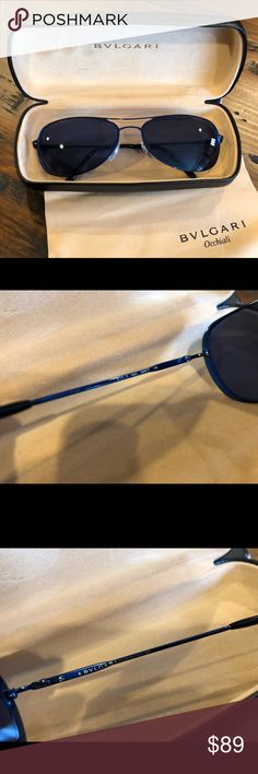 Bvlgari Sunglasses with case blue lens Good condition with case and cleaning cloth Bvlgari Accessories Glasses