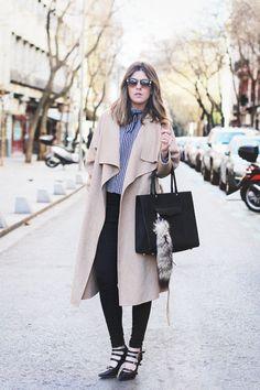 Camel Coat & Vichy Plaid
