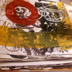 Stack of paintings waiting for their fates to be decided. Finished? Need more…
