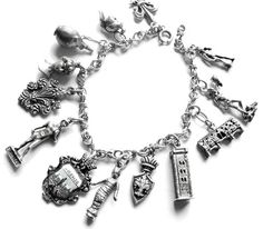 ❥ Vintage Silver Charm Bracelet - I bought a charm on every family or school trip. I still have mine. Vintage Charm Bracelet, Silver Charm Bracelet, Silver Bracelets, Charm Jewelry, Sterling Silver Necklaces, Charm Bracelets, Silver Charms, Silver Earrings, Sapphire Bracelet