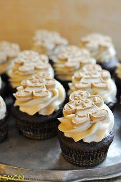 Chocolate Gingerbread Cupcakes with Brown Sugar Buttercream   www.lemon-sugar.com