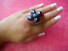 Truffle rings collection . Strawberry Glazed by AlmaHandmadeAccs, $20.00