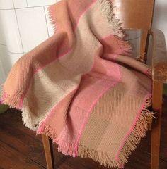 "Handwoven 100% wool nature-dyed baby blanket ""Small Salme""  - Terra Mama Prams, Mushroom, Hand Weaving, Wool, Blanket, Nature, Baby, Shopping, Strollers"