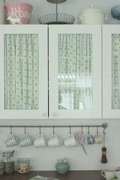 How To Cover Glass Cabinet Doors With Fabric | Glass doors, Glass ...