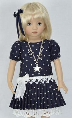 "*** STARS *** For 13"" Dianna Effner Little Darling Studio Dolls By Melanie"