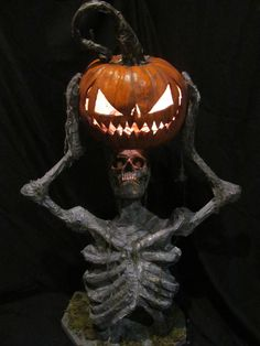 Chunking Pumpkin Zombie Ground breaker, graveyard, outdoor Halloween fun. H baker Studio