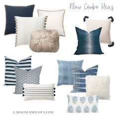 Choosing and coordinating throw pillows can be a little overwhelming and confusing. Below is my easy guide to choosing and styling throw pillows. Pillow Room, Living Room Pillows, Sofa Pillows, Living Room Decor, Living Rooms, Throw Cushions, Designer Throw Pillows, Pillow Set, Living Spaces