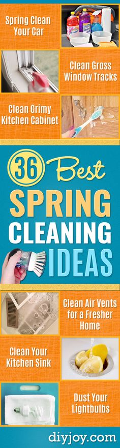 Best Spring Cleaning Ideas - Easy Cleaning Tips For Home - DIY Cleaning Hacks and Product Recipes - Tips and Tricks for Cleaning the Bathroom, Kitchen, Floors and Countertops - Cheap Solutions for A Clean House http://diyjoy.com/best-spring-cleaning-ideas