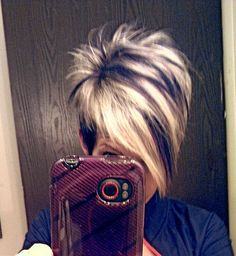 Hair Color Unique Pixie Hairstyles 46 New Ideas Short Pixie Haircuts, Cute Hairstyles For Short Hair, Short Hair Cuts For Women, Pixie Hairstyles, Short Hair Styles, Trendy Hair, Fringe Hairstyles, Short Cuts, Funky Short Hair