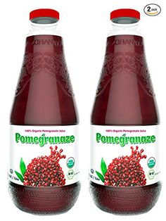 100 USDA Organic Pure Pomegranate Juice 338 FlOz No Sugar Added No Preservatives Glass Bottle Pack of 2 * You can get more details by clicking on the image.