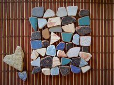 Sea pottery 42 Pieces, Beach Pottery, Mosaic Tiles , Craft Tiles, Mosaic Making, Sea Ceramics, Craft Pottery, Authentic Beach finds Black And White Colour, Pebble Art, Mosaic Tiles, Painted Rocks, Master Bath, Art Projects, Pottery, Sea, Ceramics