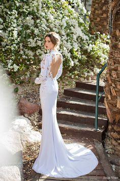 I love the beautiful keyhole back ~ julie vino spring 2014 sharon long sleeve wedding dress keyhole back