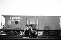 Themed Engagement Photos - Charlie Chaplin Engagement Photos | Wedding Planning, Ideas & Etiquette | Bridal Guide Magazine