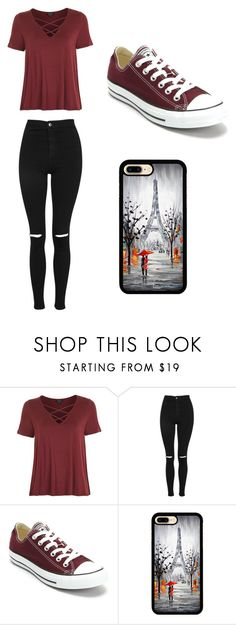 """Untitled #22"" by tumblroutfitsformeandforyou ❤ liked on Polyvore featuring Topshop and Converse"