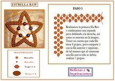 Bellezas e Inspiraciones: Técnica Raw/Esquema Estrella Raw