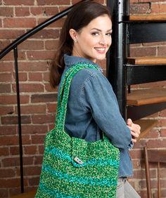 Trendy Tote Bag Crochet Pattern #crochet #redheartyarns