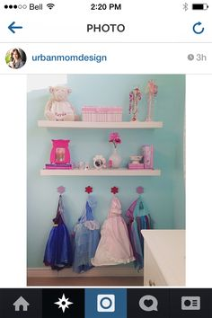From Urban Mom designs on Instagram, adorable idea for the girls room.