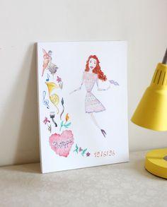 Custom Child Portrait - Daughter Portrait - Teenager Gift - Kids Birthday Gift - Favorite Things