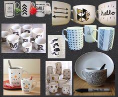 peinture mug feutre sharpie porcelaine clem around the corner tasse diy