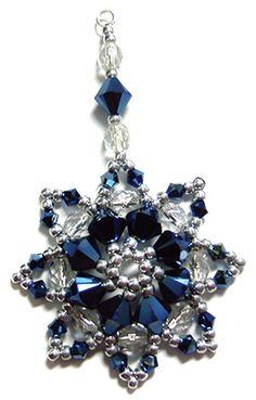 Octavia Pendant and Ornament pattern at Deb Roberti's AroundTheBeadingTable.com