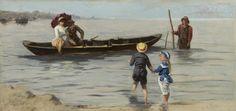 Johannes Marius ten Kate (Amsterdam 1859-1896 Den Haag) - Voor het spelevaren.