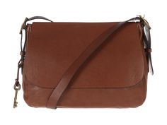 Fossil 'Harper' Saddle Brown Leather Cross-Body Bag | Pure Luxuries
