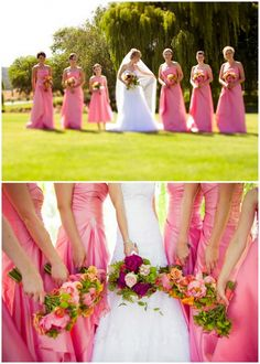 Wedding Day Poses | bridesmaids pose in front of willow tree, Hausna California wedding ...