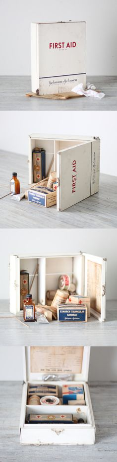 Wooden First Aid Supply Cabinet