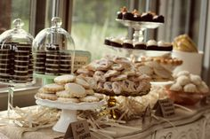 stacked oreos in a bell jar...so simple, so DELICIOUS looking!  - Whimsy: Sarah and John - Oh Happy Day!