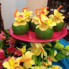 Uma opção apaixonante para festa Moana... Nossos Cocos Verdes! Sabonetes que fazem o maior sucesso!!! Orçamentos ... Aloha Party, Tiki Party, Party Rock, Bbq Party, Luau Party, Hawaiian Theme, Hawaiian Luau, Luau Bridal Shower, Hawaian Party