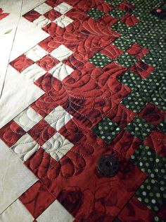 """Blooming Nine Patch - I've done one, would maybe try another. Called a Blooming Nine Patch because there's so many """"blooming"""" nine patches in it! lol"""