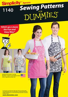 Getting ready to fire up the grill? Why not give the Grill Master his (or her) official BBQ apron. They're EASY to sew with Simplicity pattern 1140.