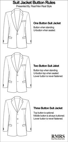 10 Suit Jacket Style Details Men Should Know Suit Jackets Silhouettes Buttons Single Vs Double Breasted Mens Fashion Suits, Mens Suits, Fashion Shirts, Real Men Real Style, Oufits Casual, Dress Casual, Casual Outfits, Look Girl, Jacket Buttons
