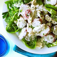 New Potato and Chicken Salad with Yogurt Chive Dressing