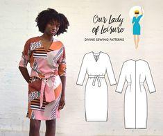 The Mai Tai Dress PDF Pattern - Women's Modern Kimono Sleeve Dress Sewing Pattern by OurLadyofLeisure on Etsy https://www.etsy.com/au/listing/542170925/the-mai-tai-dress-pdf-pattern-womens