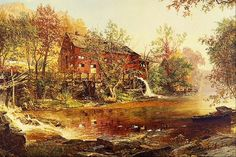 The Old Red Mill by Jasper F. Cropsey