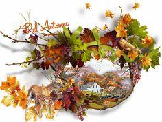 őszi gif animált táj őszi biche faon