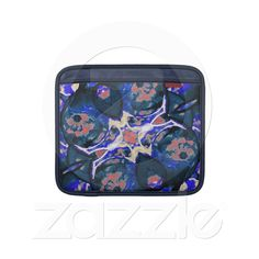 Decorative Retro Rickshaw Sleeve Sleeves For Ipads from Zazzle.com    decorative , blue , nature , retro , red , symmetric , female , flower , digital , elegant , decoration , women , teens , flowers , natural