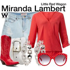 Miranda Lambert by wearwhatyouwatch on Polyvore featuring GUESS, Durango, Brooks Brothers, Merona, Dolce&Gabbana, music and musicvideo