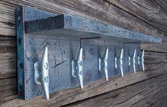 Distressed Nautical Wall Rack / Organizer / by WaywardWoodshop, $60.00