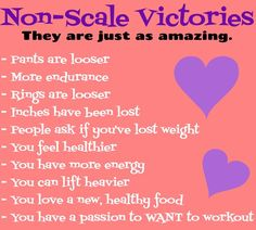 Non-scale victories are just as important as scale victories...don't forget to celebrate them too! For more fitness inspiration and motivation, be sure to Like Tiffany Gaspie Fitness on Facebook (https://www.facebook.com/letsdothistogetherfitness), and also visit http://www.tiffanygaspie.com/